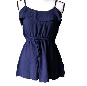 Divided H&M blue romper ruffles 4 free shipping